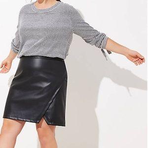 LOFT Plus Faux Leather Wrap Skirt